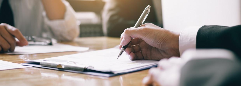 ondertekenen van document