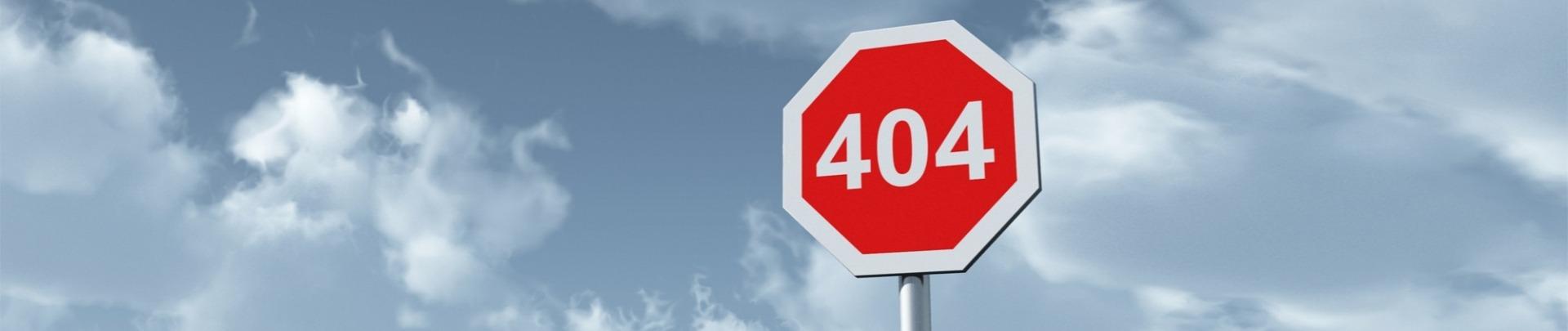 404 pagina niet gevonden